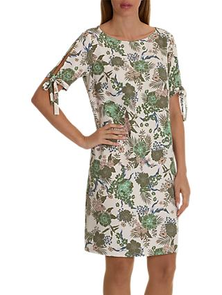 Betty Barclay Floral Print Dress, Rose/Khaki