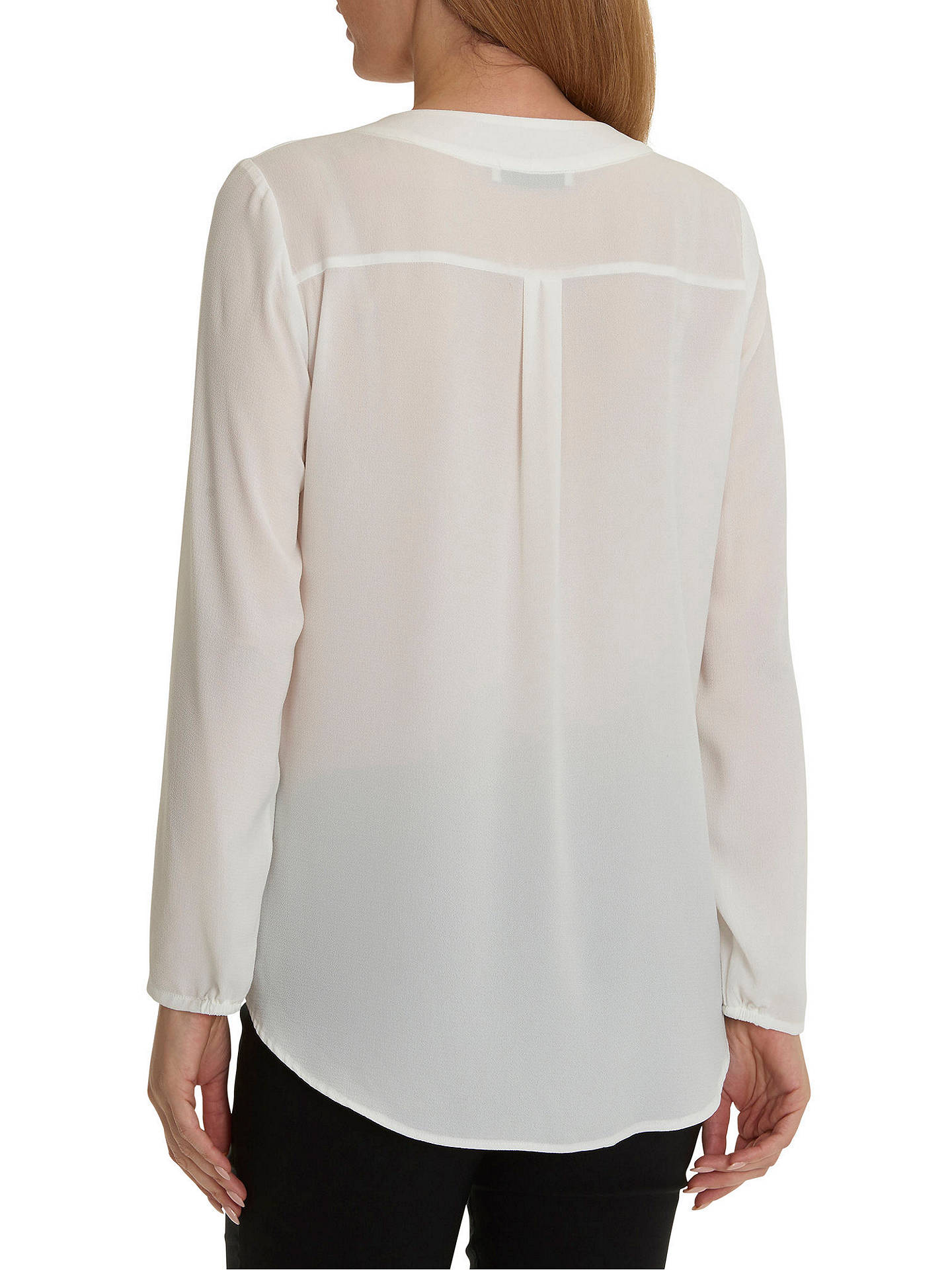 Buy Betty Barclay V-Neck Crepe Blouse, Off White, 10 Online at johnlewis.com