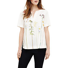 Buy Phase Eight Erinn Botanical Blouse, Ivory/Multi Online at johnlewis.com
