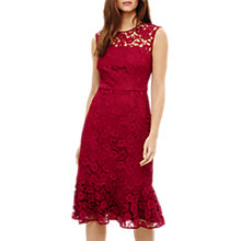 Buy Phase Eight Sabby Lace Dress, Magenta Online at johnlewis.com