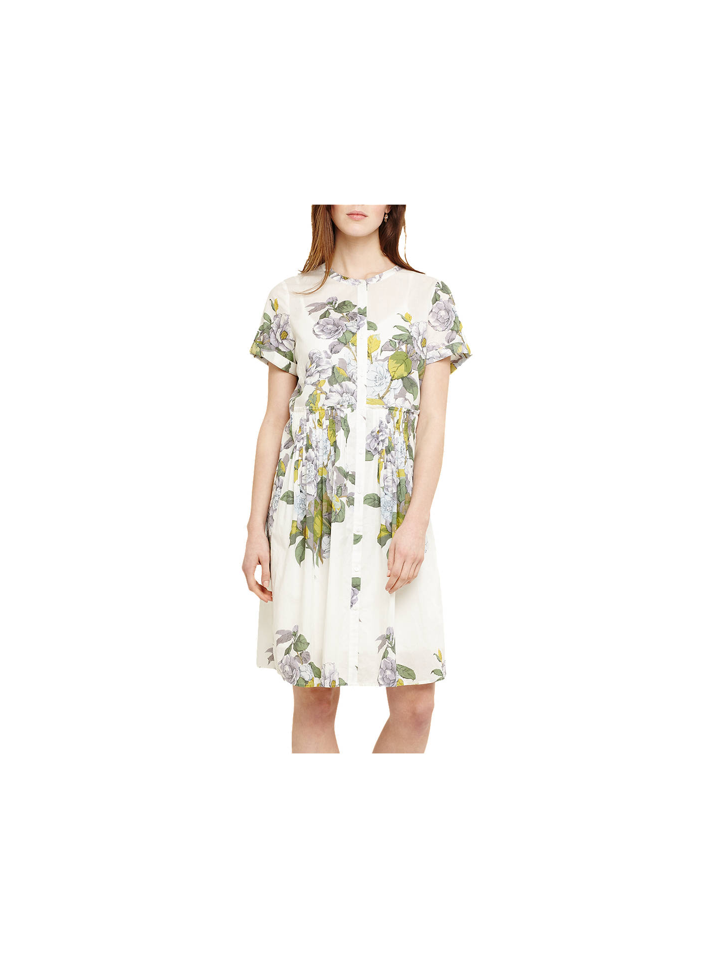 BuyPhase Eight Samara Floral Dress, Ivory/Multi, 10 Online at johnlewis.com