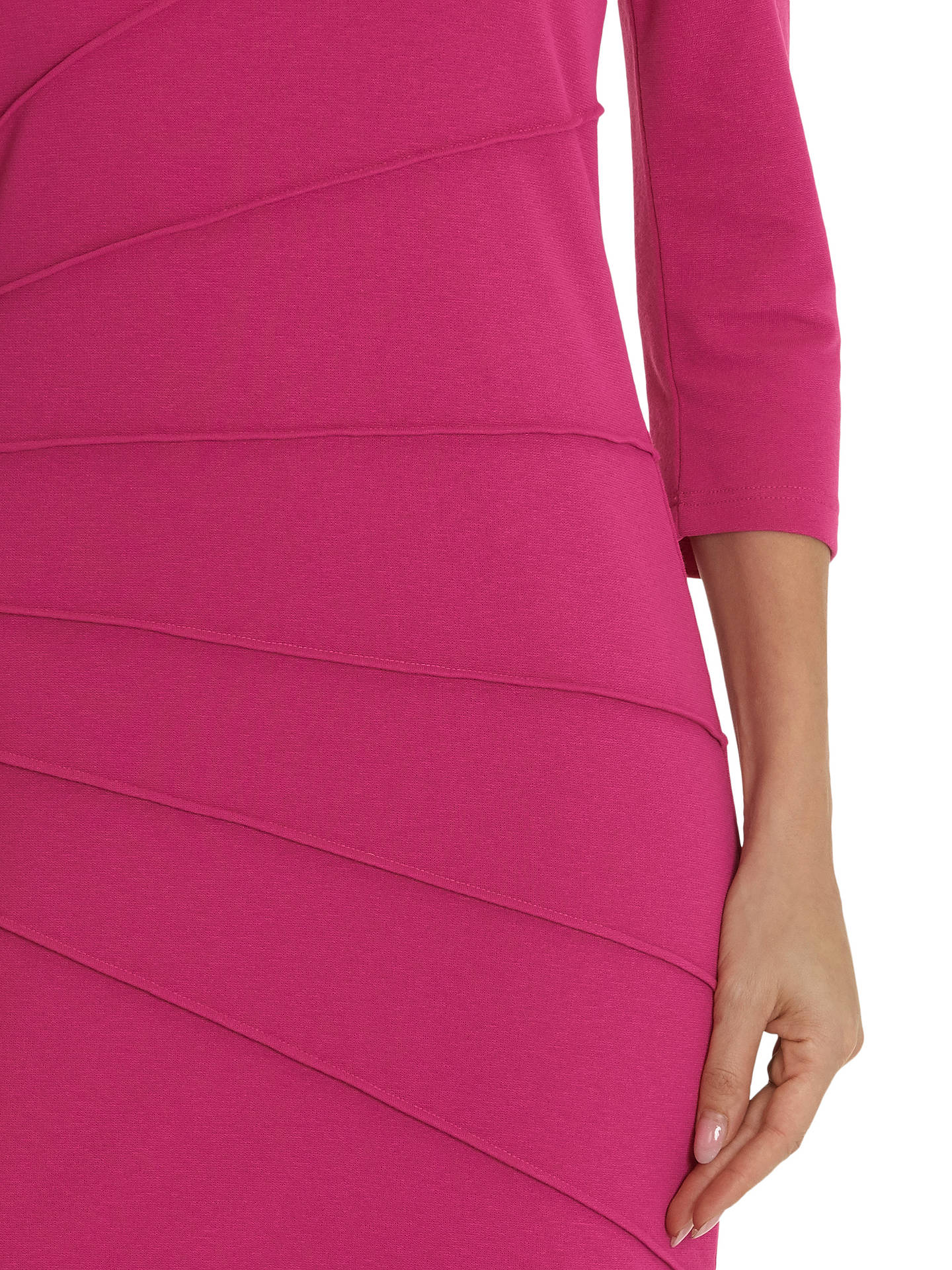 Buy Betty Barclay 3/4 Sleeve Jersey Dress, Fuchsia, 10 Online at johnlewis.com