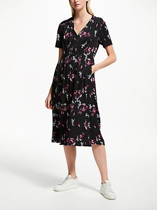 Collection WEEKEND by John Lewis Short Sleeve Midi Tea Dress, Black