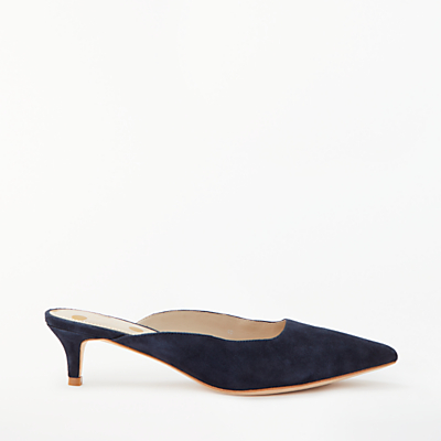 Boden Tyra Backless Court Shoes, Navy Suede