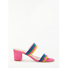 Buy Boden Orella Suede Mule Sandals, Pink/Multi Online at johnlewis.com