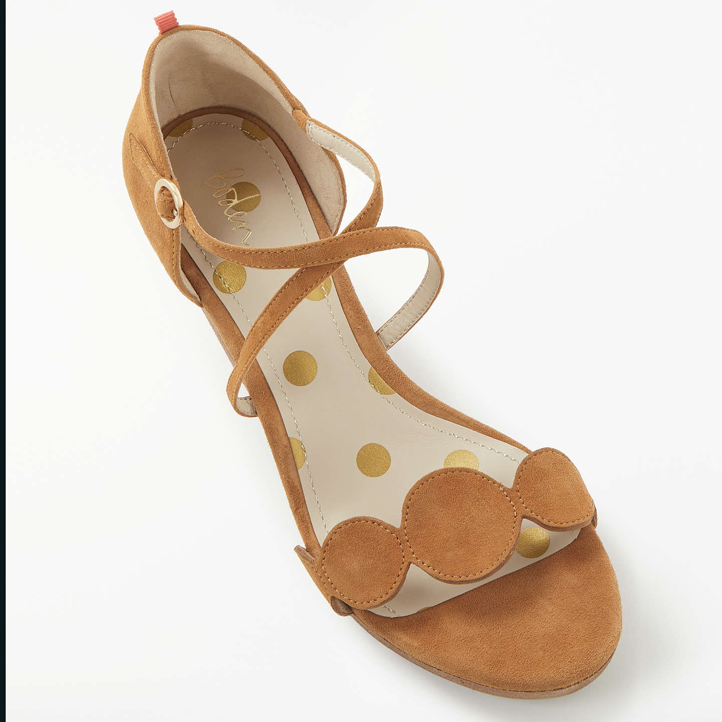 BuyBoden Bethany Wedge Heel Sandals, Brown, 4 Online at johnlewis.com