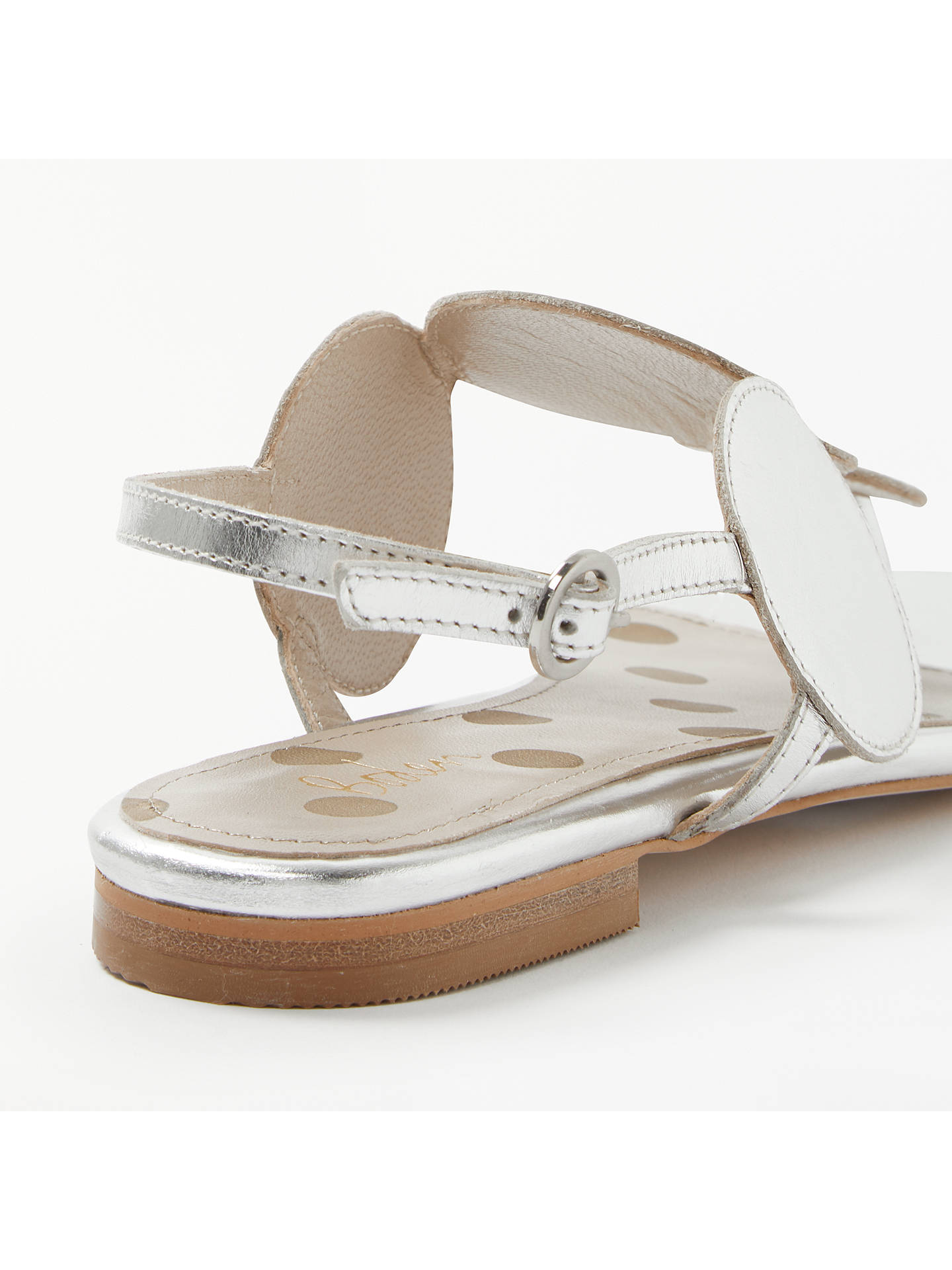 BuyBoden Aubry Toe-Post Sandals, Metallic Leather, 5 Online at johnlewis.com