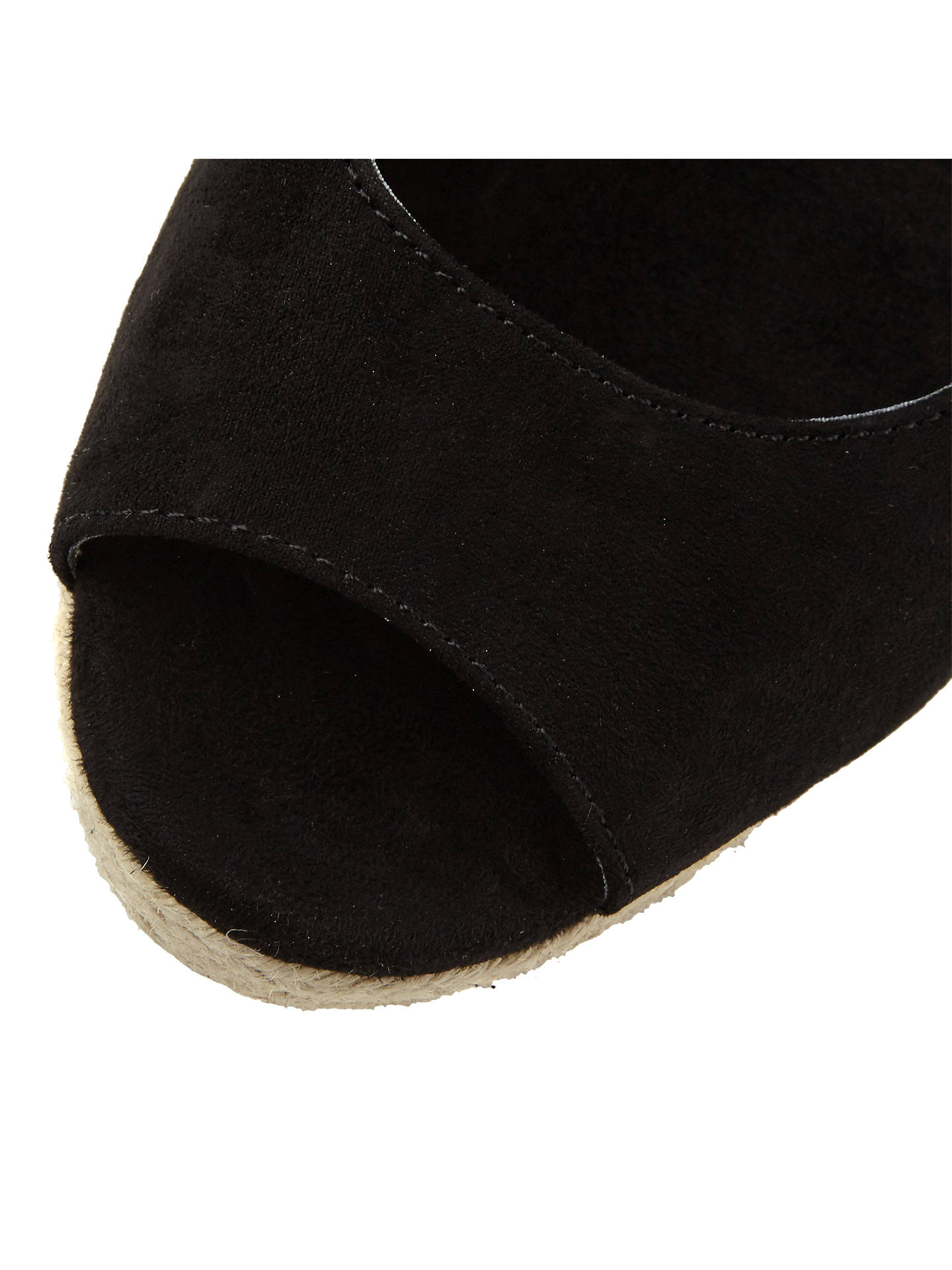 BuyDune Klicks Wedge Heel Sandals, Black, 3 Online at johnlewis.com