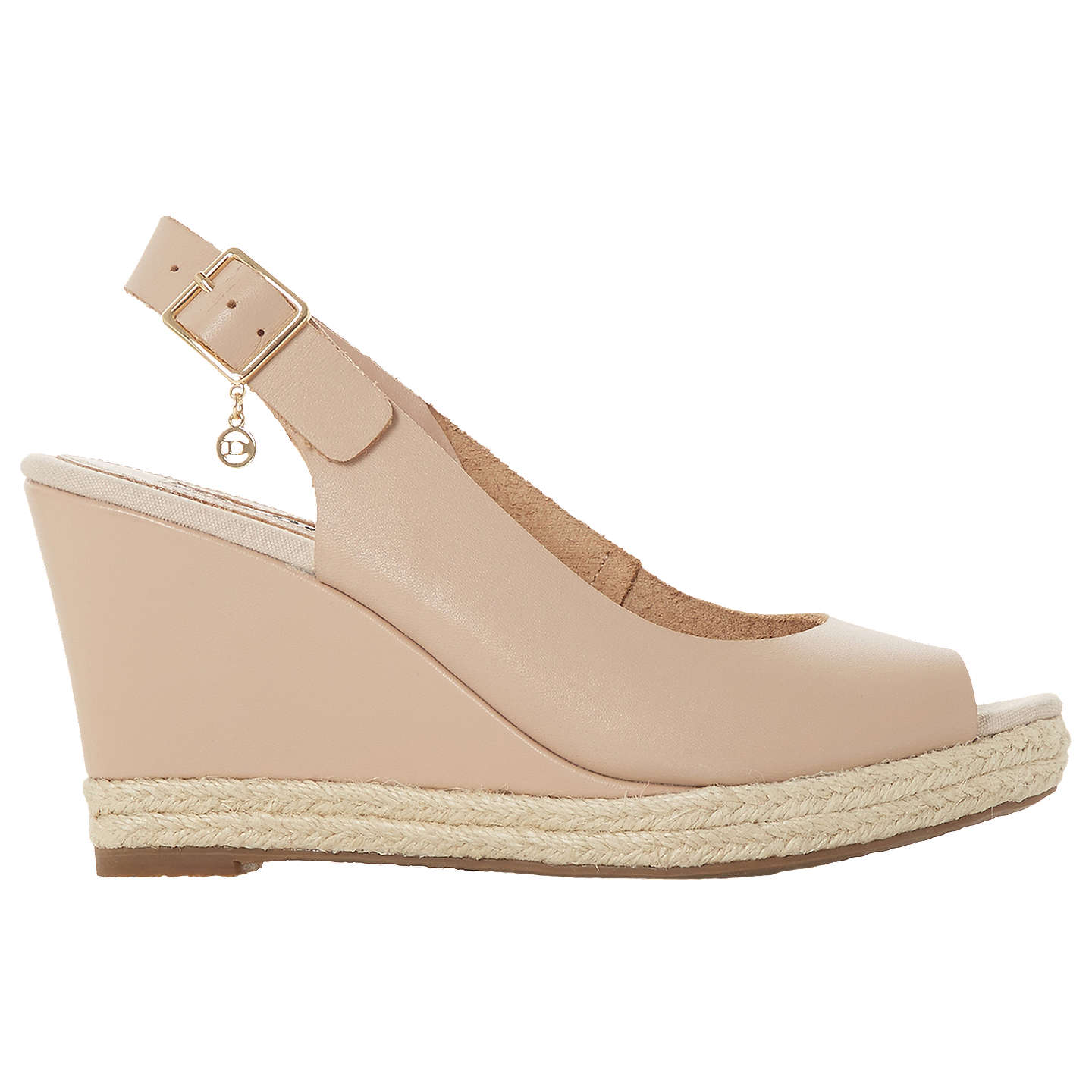 BuyDune Klicks Wedge Heel Sandals, Nude, 5 Online at johnlewis.com
