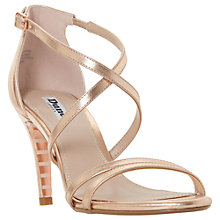 Buy Dune Mariela Cross Strap Stiletto Heeled Sandals, Rose Gold Online at johnlewis.com