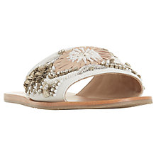 Buy Dune Luscie Embellished Slider Sandals, White Online at johnlewis.com