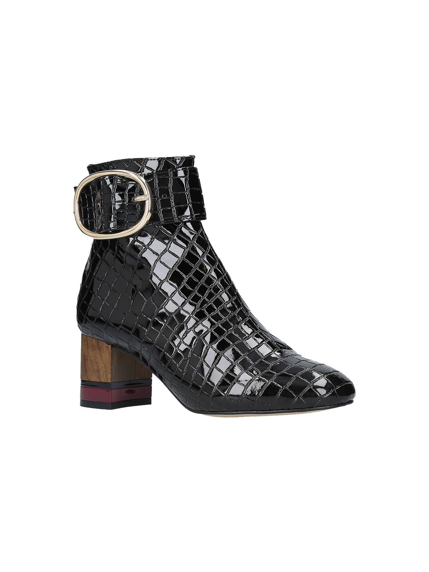 7d931a3841c Kurt Geiger London Ringo Block Heeled Ankle Boots, Patent Black