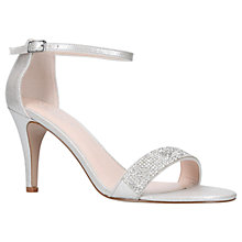 Buy Carvela Kink High Heel Sandals, Silver Online at johnlewis.com