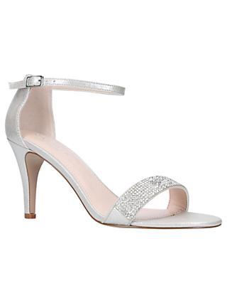 Carvela Kink High Heel Sandals, Silver