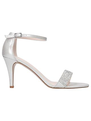 Carvela Kink High Heel Sandals Silver