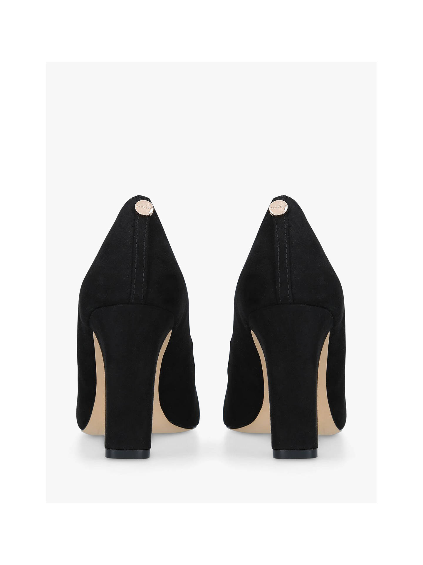BuyCarvela Kruise Block Heel Court Shoes, Black, 3 Online at johnlewis.com