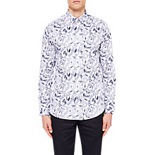 Buy Ted Baker Kiddow Long Sleeve Floral Shirt, White Online at johnlewis.com
