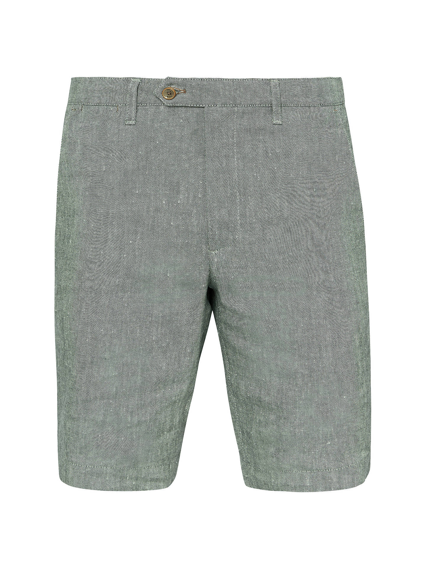 Buy Ted Baker Newshow Slim Fit Shorts, Green, 30R Online at johnlewis.com