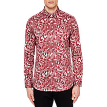 Buy Ted Baker Kiddow Long Sleeve Floral Shirt, Pink Online at johnlewis.com