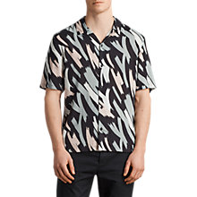 Buy AllSaints Rope Short Sleeve Hawaiian , Black Online at johnlewis.com