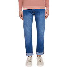 Buy Ted Baker Dyno Straight Leg Jeans, Light Wash Online at johnlewis.com