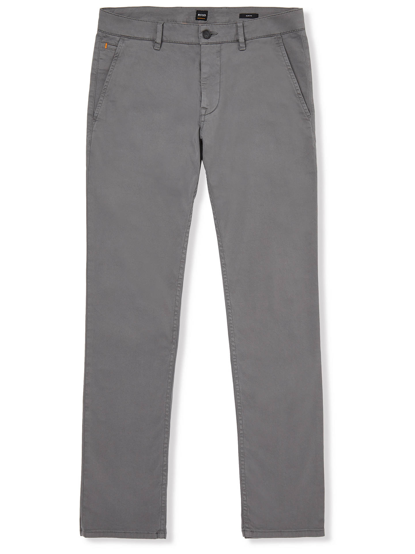 Buy BOSS Schino Slim Chinos, Dark Grey, 30R Online at johnlewis.com