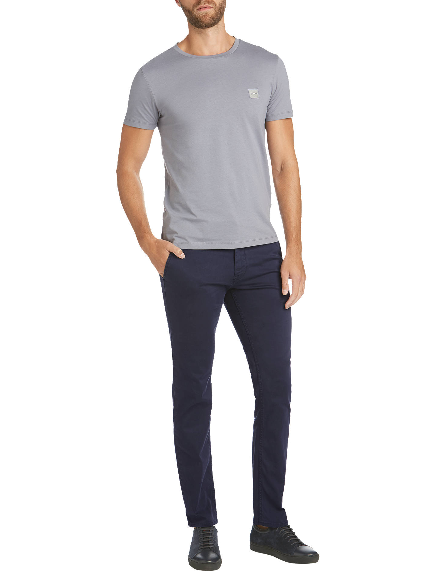 Buy BOSS Schino Slim Chinos, Dark Blue, 36R Online at johnlewis.com