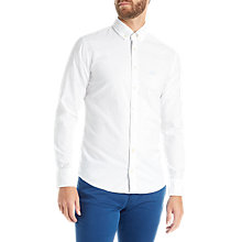 Buy BOSS Orange Epreppy Plain Slim Fit Shirt, White Online at johnlewis.com
