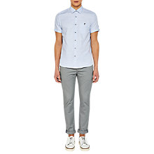 Buy Ted Baker Peeze Cotton Linen Short Sleeve Shirt Online at johnlewis.com