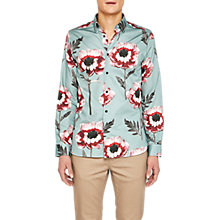 Buy Ted Baker Everest Flower Print Shirt, Green Online at johnlewis.com