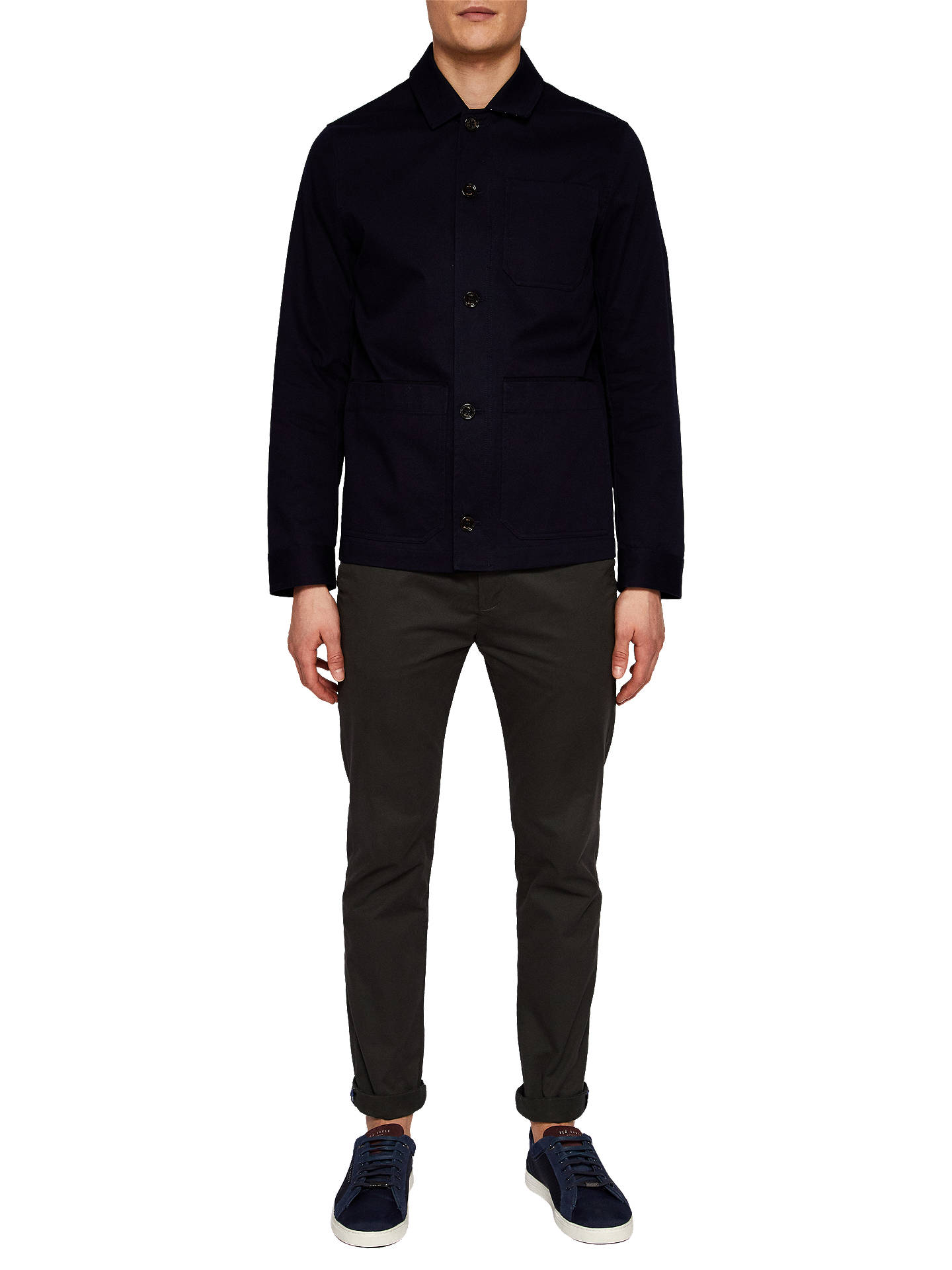 BuyTed Baker Grapes Cotton Utility Jacket, Navy, 2 Online at johnlewis.com