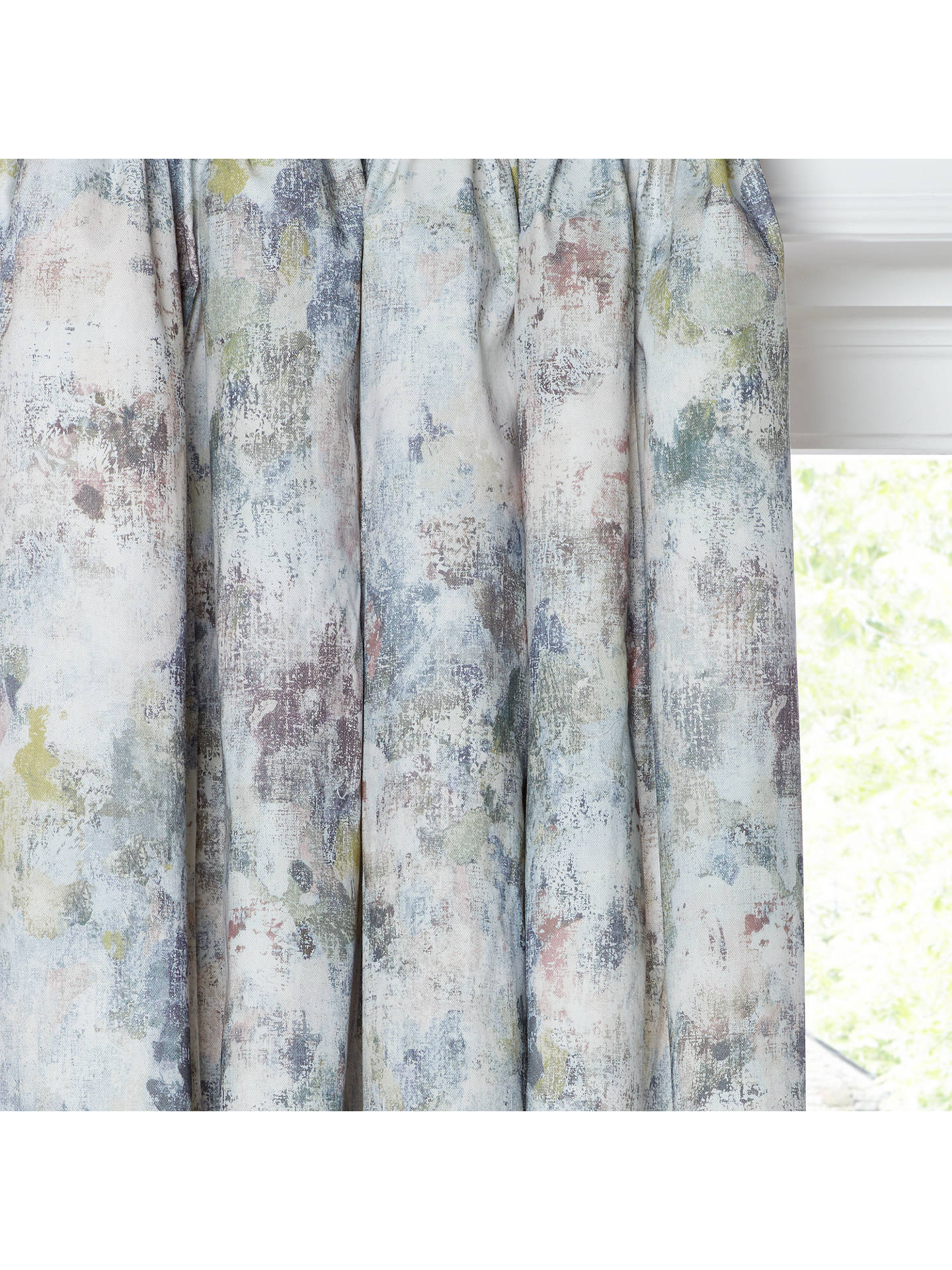 BuyJohn Lewis & Partners Giverny Pair Lined Pencil Pleat Curtains, Multi, W167 x Drop 137cm Online at johnlewis.com