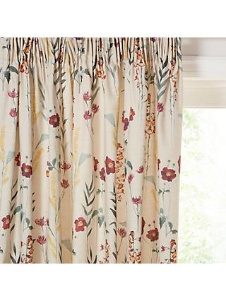 John Lewis & Partners Longstock Pair Lined Pencil Pleat Curtains, Autumn