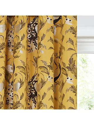 John Lewis & Partners Java Pair Lined Eyelet Curtains, Yellow