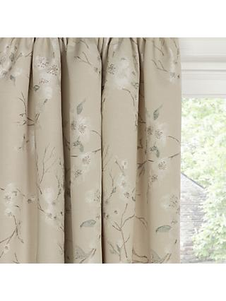 8eff0d466877 John Lewis & Partners Misaki Weave Pair Lined Pencil Pleat Curtains, Natural