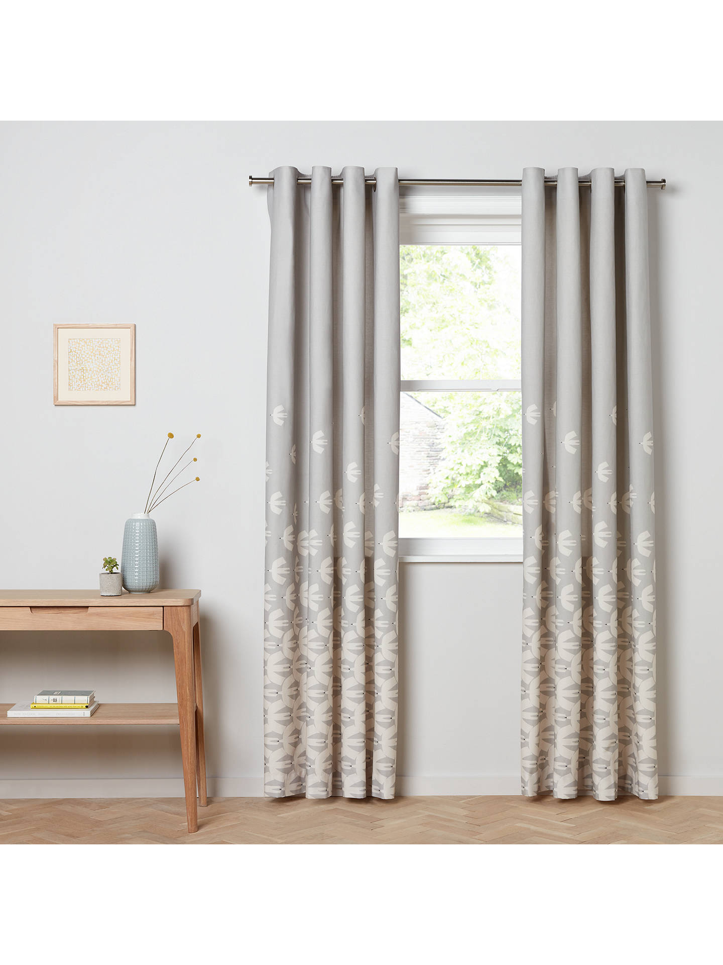 BuyScion Pajaro Lined Eyelet Curtains, Steel, W167 x Drop 137cm Online at johnlewis.com