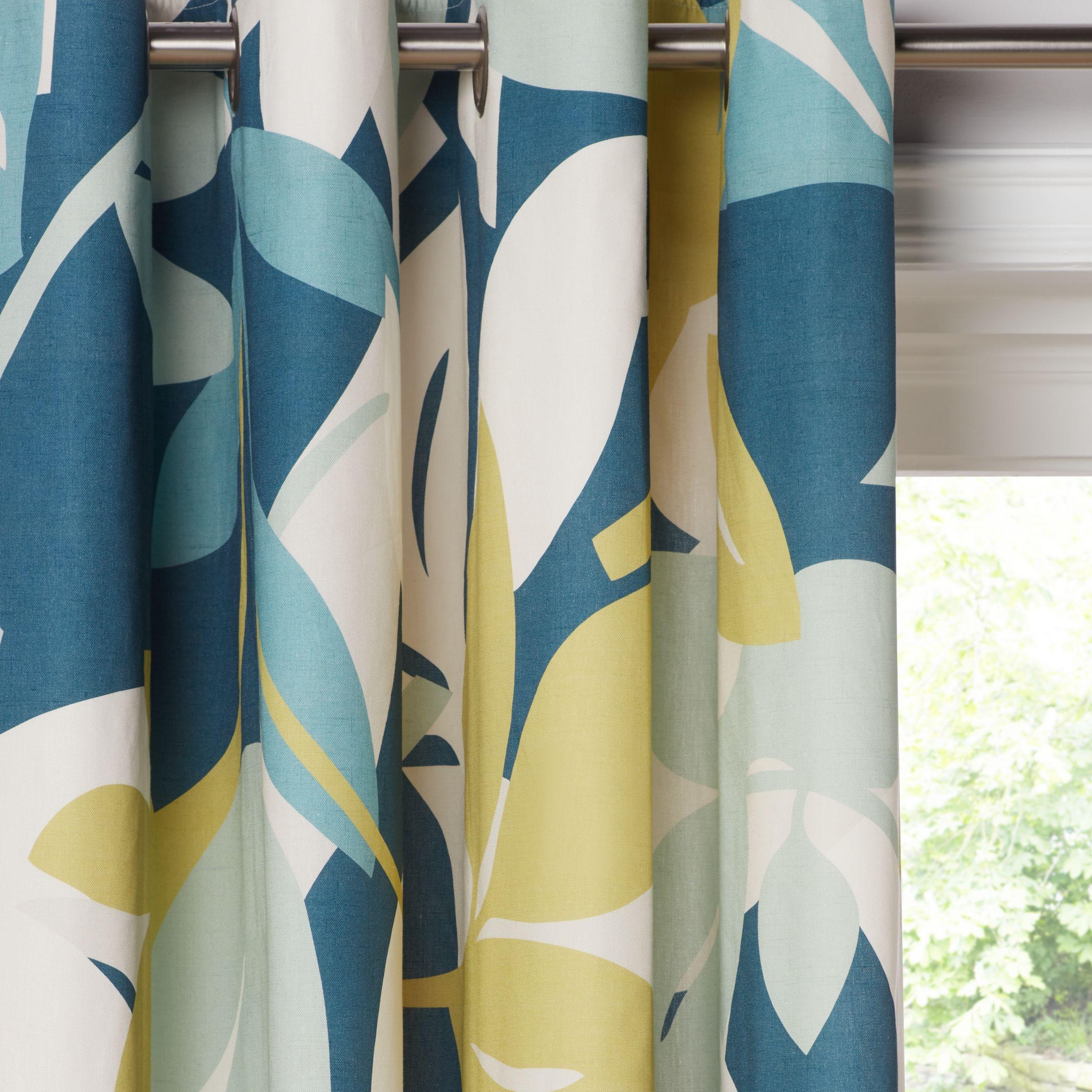 Scion Baja Pair Lined Eyelet Curtains Blue Green At John Lewis Partners
