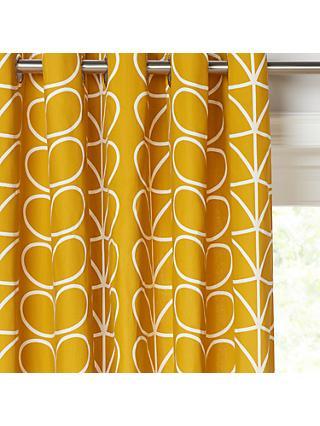 Orla Kiely Linear Stem Pair Lined Eyelet Curtains