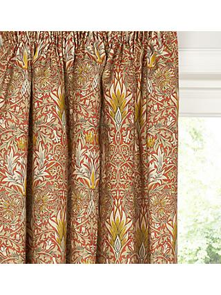 Snakeshead Pair Lined Pencil Pleat Curtains Amber