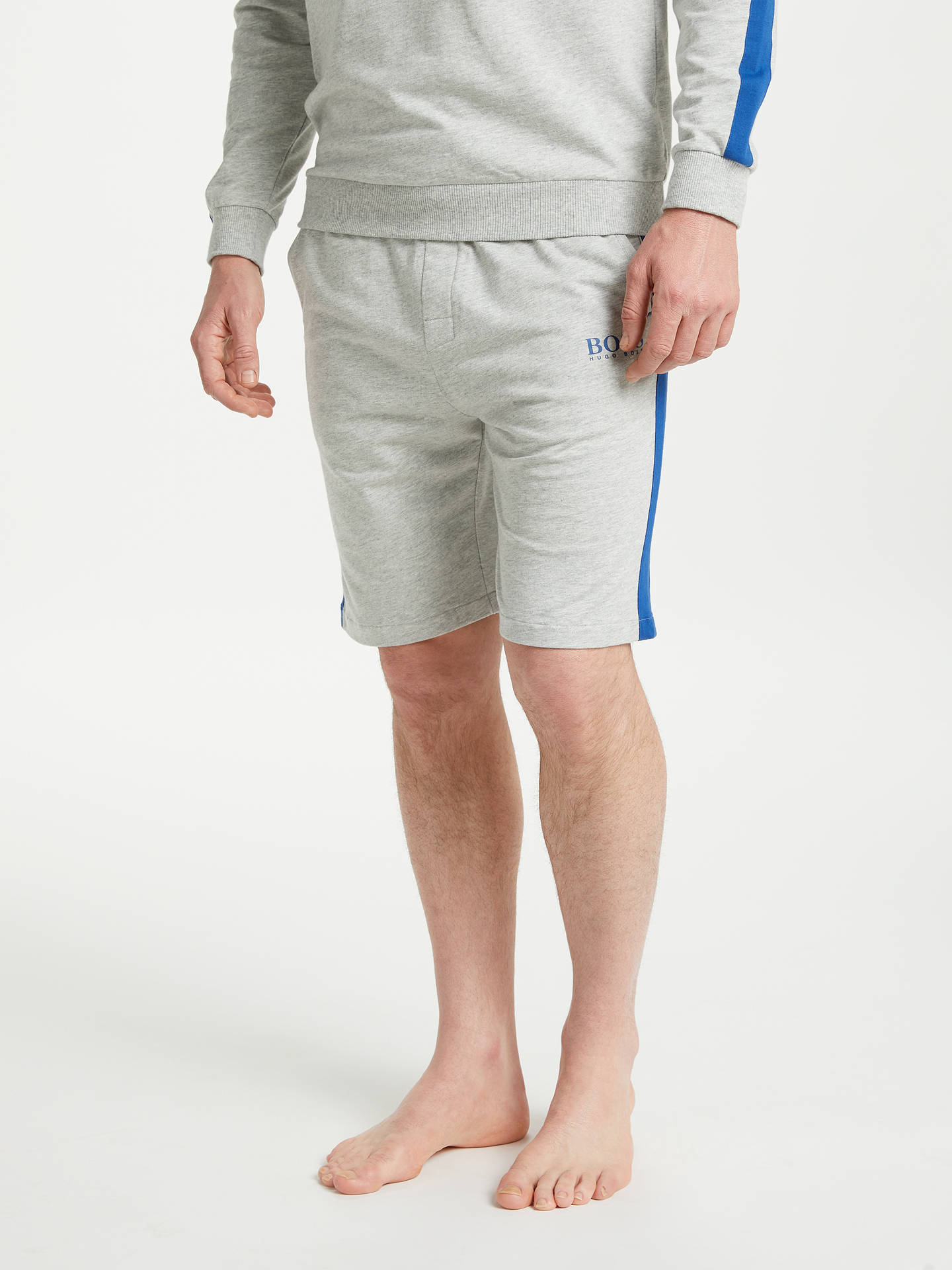 BuyBOSS Authentic Jersey Sweat Shorts, Grey, M Online at johnlewis.com