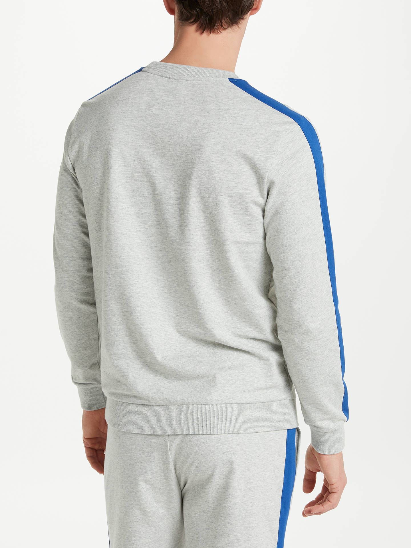 Buy BOSS Authentic Jersey Lounge Sweatshirt, Grey/Multi, M Online at johnlewis.com