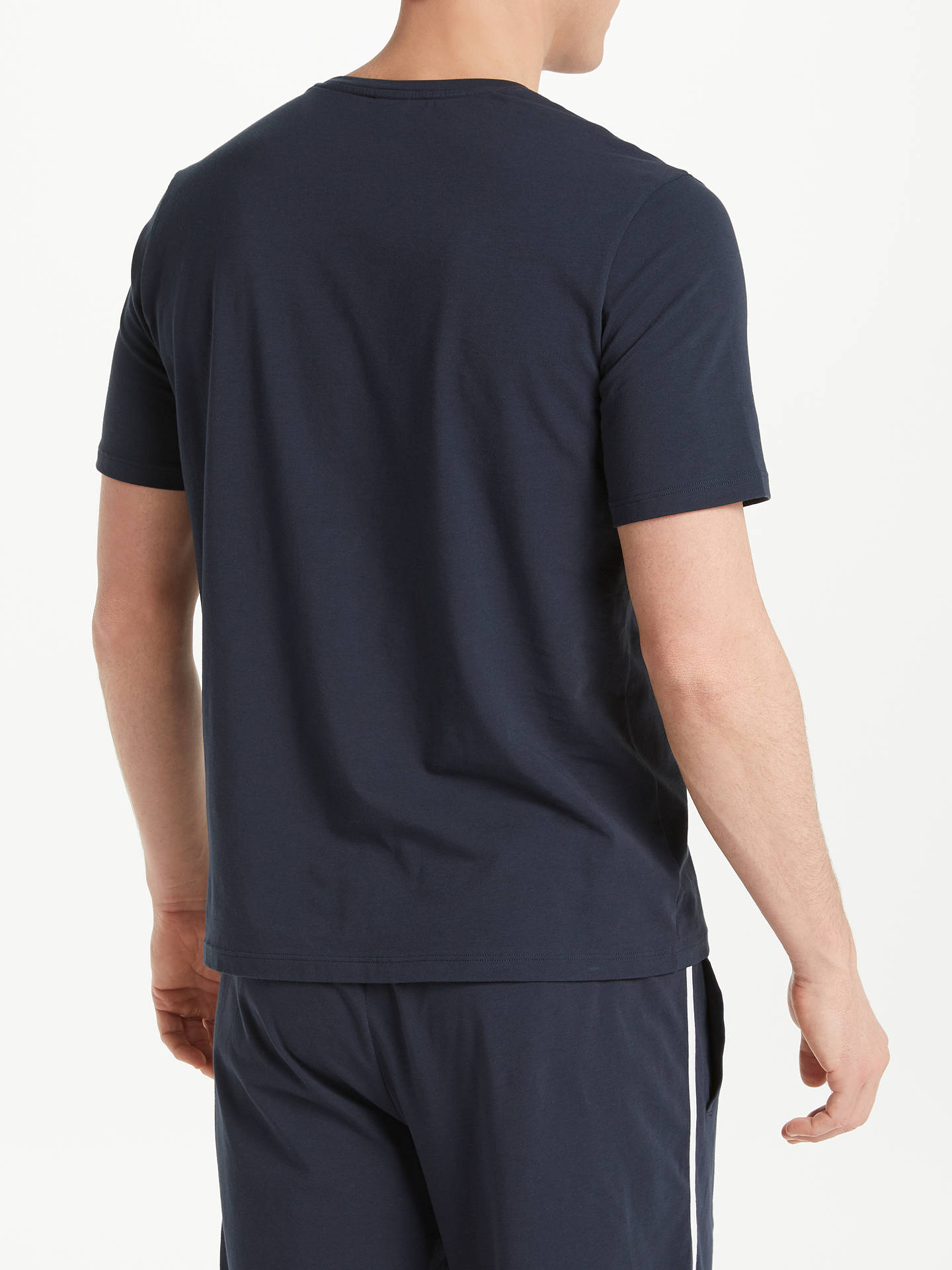 BuyBOSS Stretch Cotton Logo Pyjama T-Shirt, Navy, S Online at johnlewis.com