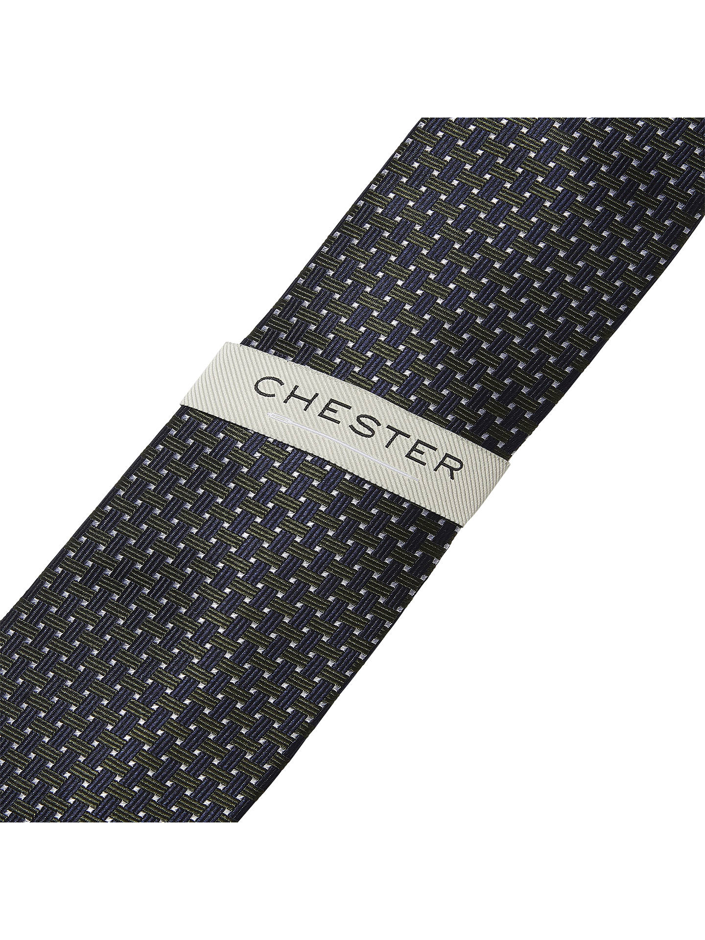 Buy Chester by Chester Barrie Cross Weave Silk Tie, Green Online at johnlewis.com