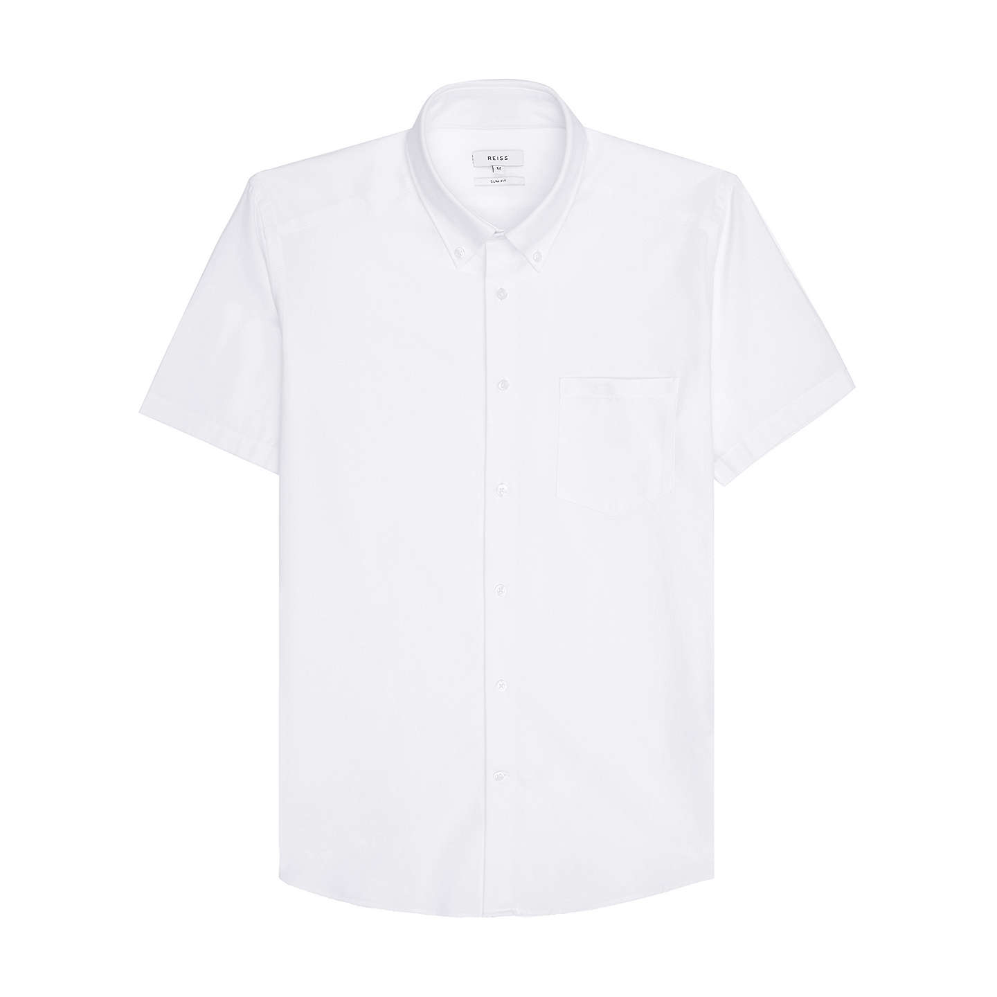 BuyReiss Dunning Short Sleeve Oxford Shirt, White, S Online at johnlewis.com