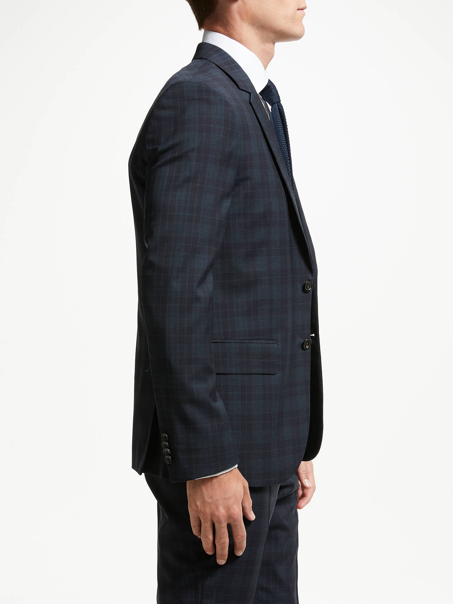 Buy PS Paul Smith Wool Check Tailored Fit Suit Jacket, Ink, 36R Online at johnlewis.com