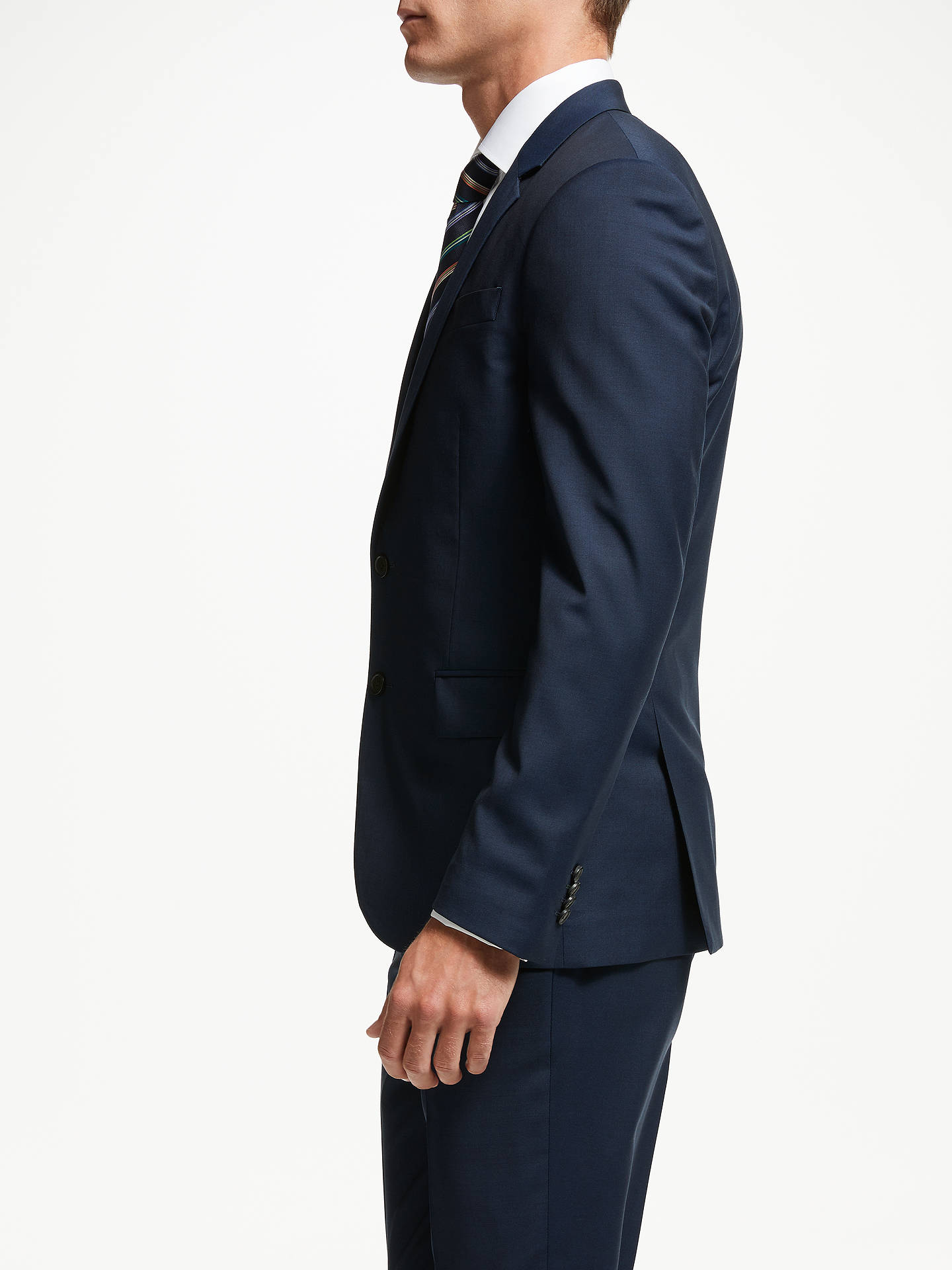 BuyPS Paul Smith Wool Mohair Tailored Fit Suit Jacket, Navy, 36R Online at johnlewis.com