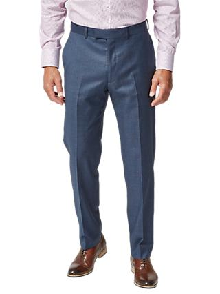 Chester by Chester Barrie Dotted Check Tailored Suit Trousers, Blue