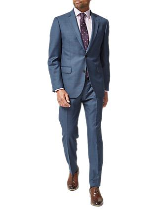 Chester by Chester Barrie Dotted Check Tailored Suit Jacket, Blue