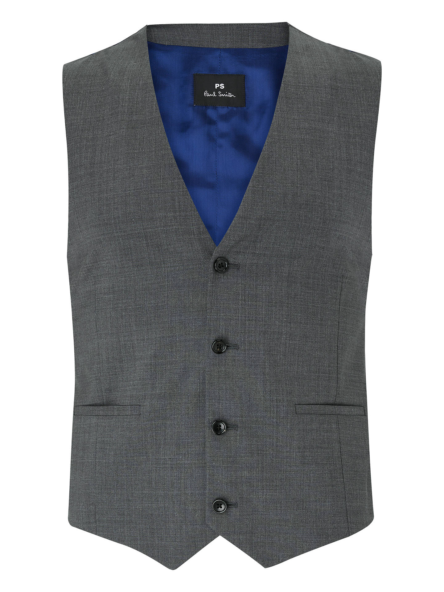 BuyPS Paul Smith Tailored Fit Waistcoat, Grey, 38R Online at johnlewis.com