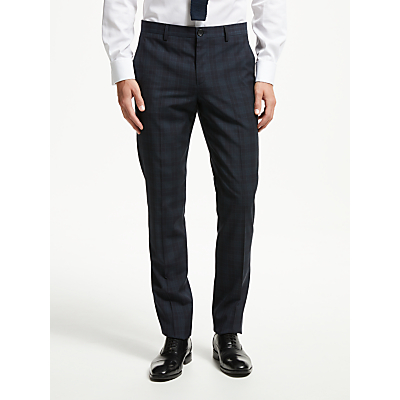 PS Paul Smith Wool Check Tailored Fit Suit Trousers, Ink